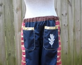 mens patchwork Dude Shorts hippie READY to SHIP pocket 30 32 34 36 38 40 42 festival burner