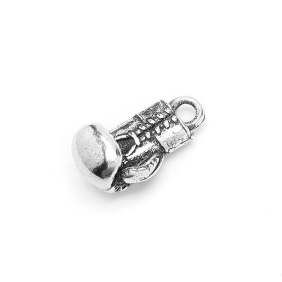 Boxing Glove Charm - Add a Charm to a Custom Charm Bracelets, Necklaces or Key Chains -  Nickel Free Charms