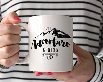 Wedding Gift, Adventure mug, Wedding Shower Gift, Bride Gift, Husband Gift, Custom Mug, Shower Gift, Cute Mug, Wedding Present