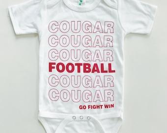 WSU COUGAR FOOTBALL - White Baby Onesie