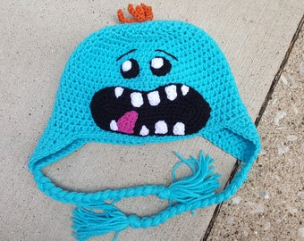 Rick and Morty Mr. Meeseeks Inspired Hat (Newborn-Adult)