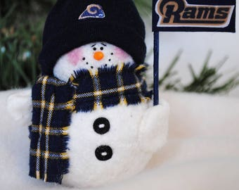 Los Angeles Rams Snowman Ornament
