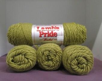 Lamb's Pride 85 15 Wool Mohair premium yarn 4 ounce skein Fresh Moss M-171 dyelot 021