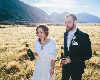 White Bridal Bolero, Alternative Wedding Crochet Shawl, Bridal Sweater, Boho Chic Wedding Wrap, Crochet Shrug Bolero, Knit Cape, Capelet
