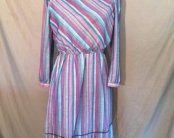 Plus Size Vintage: 80's Striped Dress