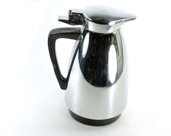 Vintage Chrome Carafe or Coffee Pot