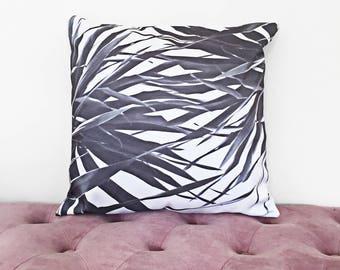 Kuta black and white cushion cover