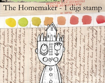 The Homemaker - 1 digi stamp