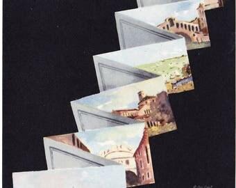 Venice Beach Postcard Souvenir Venezia Lido Art Deco Post Card Italy