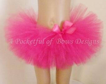 Pink Tutu Skirt, Toddler Birthday Tutus, Girls Hot Pink Tutu Skirt, 1st Birthday Tutu, 2nd 3rd 4th 5th