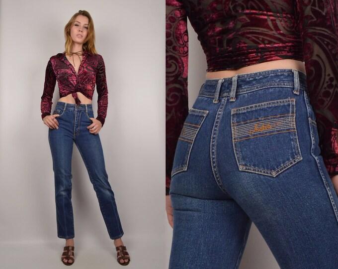 70's Jordache High Waist Skinny Jeans XXS