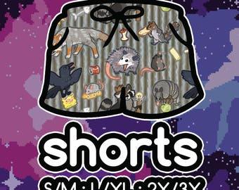 Trash Animals Shorts! Stretchy Basketball Shorts with Drawstring and Pockets