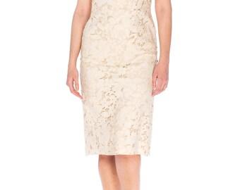 1960s Floral Lace Dress Size: S