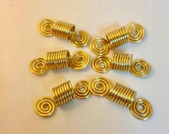 6 PC Set - Dreadlock Braid Twist Hair Bead Dread Locs Jewelry Accessories