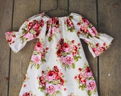 Spring Dress, Girls easter Dress, Baby Dress, floral outfit, valentines day dress, shelby jane, shabby chic dress, toddler, pink roses