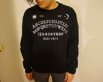 Women's Medium Ouija Sweater - Ouija Board Occult Sweatshirt