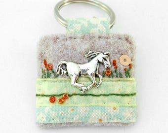 horse keyring, horse lover gift, equine accessories, horse rider gift, horse rider, silver horse, animal keychain, handmade, perfect gift