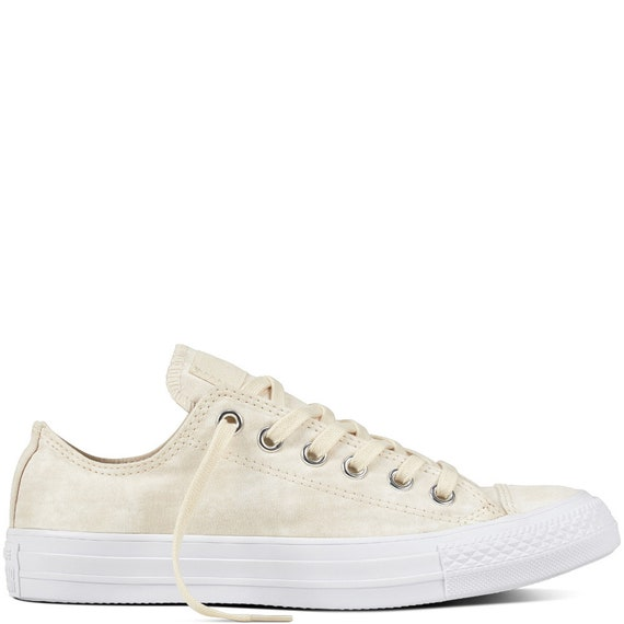 Ivory Bride Converse Wedding Shoes Marble Wash Canvas w/ Swarovski  Crystal Rhinestone Bling Chuck Taylor All Star Sneakers Shoe