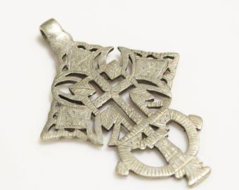Unique Handmade Cross Pendant from Ethiopia, African Religious Pendant (AL20)