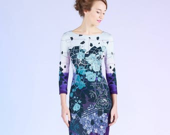 Blacklead Flowers - short dress