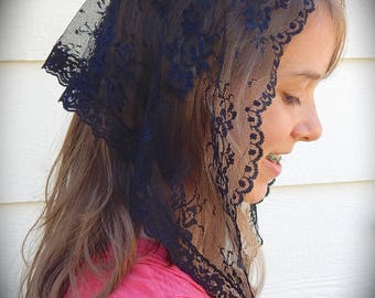 Black Lace Mantilla ,PO#Zb01