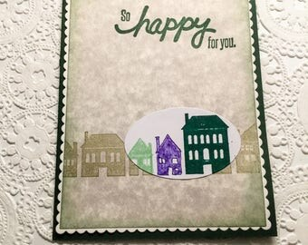 Hand made cards: You are the best - black and neon coral - masculine birthday - congratulations on a new house - so happy for you