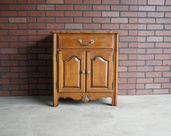 Nightstand / Bedside Chest / Night Table / French Provincial Nightstand / Country French Nightstand by Ethan Allen