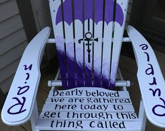 Adirondack Chair - Custom Colors - Prince - Purple Rain - Hand Painted