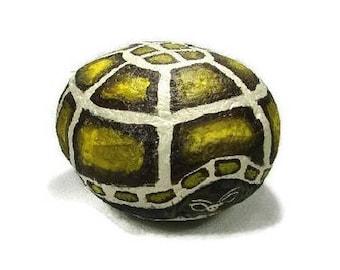 Turtle Tortoise painted rock, realistic turtle, garden art, RocksOK painted rocks