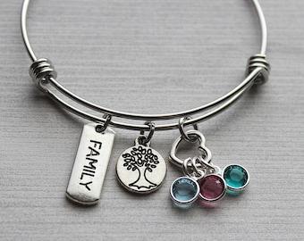 Family Tree Birthstone Bracelet, Family Tree Gifts, Family Tree Bracelets, Family Tree Jewelry, Family Tree Gifts, Gifts Family Tree, Gifts