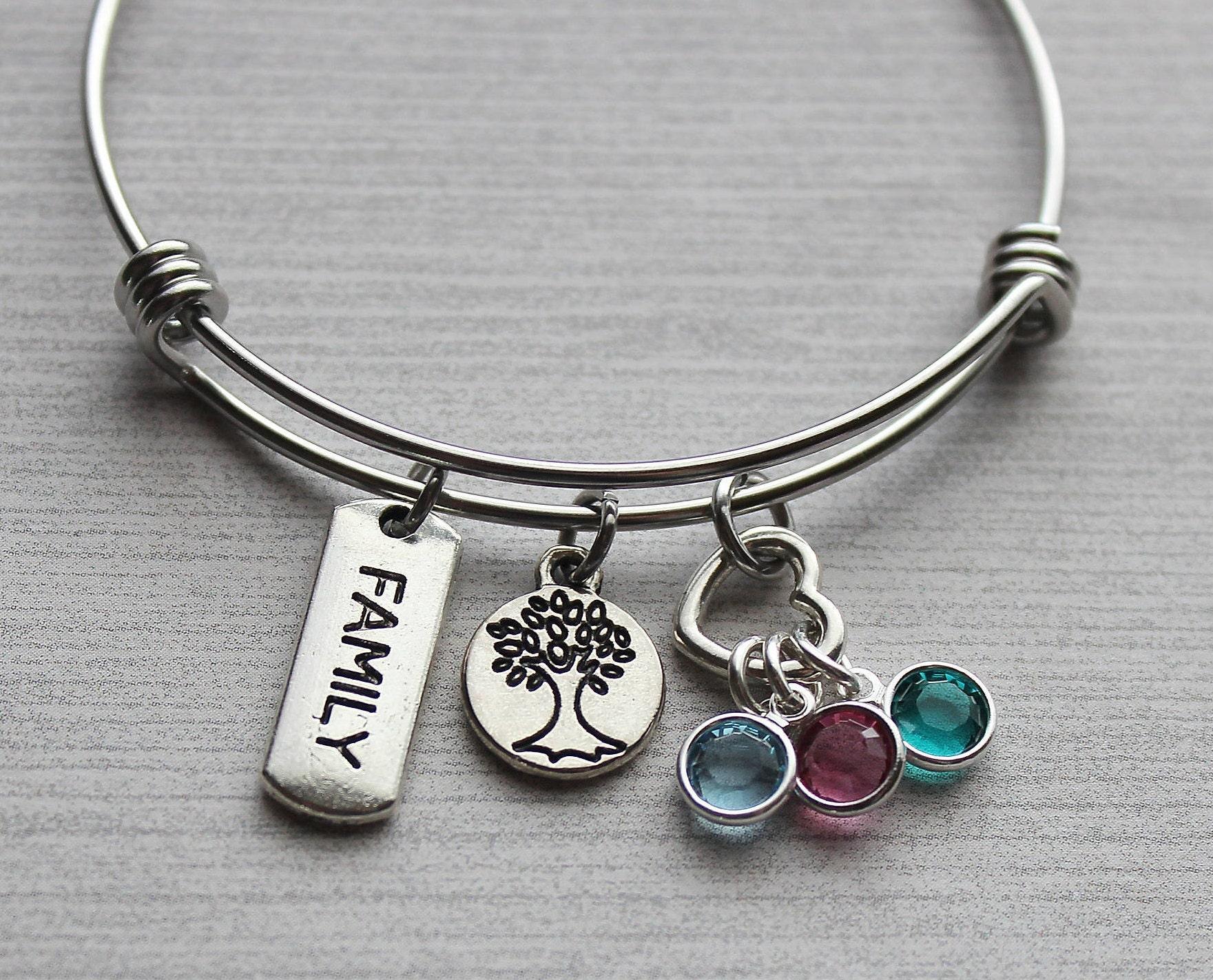 family tree birthstone bracelet family tree gifts family