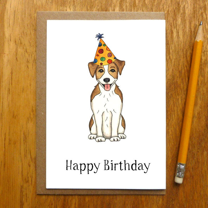 Jack russell terrier happy birthday card e10261624441327930m jack russell terrier happy birthday card bookmarktalkfo Image collections