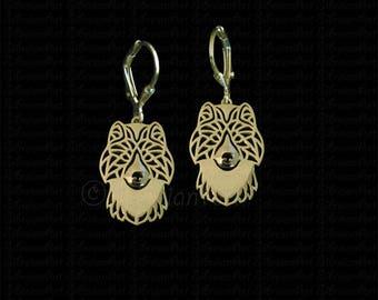 Canadian Eskimo dog / Inuit dog earrings - Gold