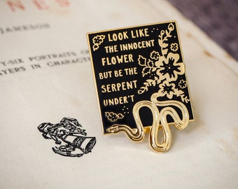 Lady Macbeth Enamel Pin - Shakespeare's Heroines Collection - Book Lover - Feminist Pin - Shakespeare Pin Badge - Literature Gift