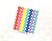 2 Dollar Tuesday Box Multicolor Icon Stickers, Moving Day, Happy Mail, Post Office Reminder