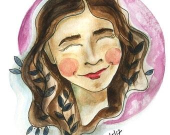 Custom Illustrated Portrait 7x10