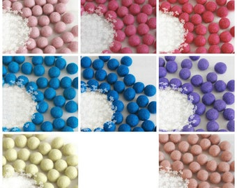 10 Wool Felt Balls - Size 3cm - 10 Felt Balls Pack - 3cm Pink Felt Balls, Purple Felt Balls, Blue Felt Balls - 3cm poms ON SALE - Final Sale