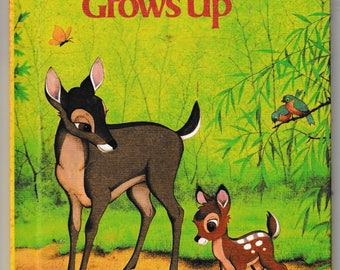 Bambi Grows Up, Walt Disney Productions - Vintage Childrens Book -