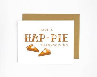 Hap-PIE Thanksgiving (Thanksgiving Card)