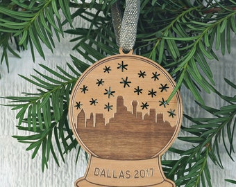 Dallas Snow Globe Ornament