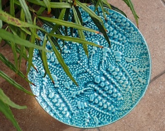 blue salad plates, lace texture tableware, ceramic wedding dinnerware dinner salad plate wedding registry housewarming gift the couple