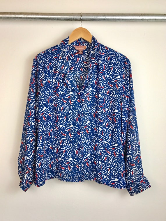 Vintage Women's Printed Blouse