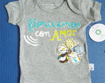 Handpainted Organic Cotton Baby T-shirt