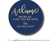 Welcome bag label, welcome gift tag, welcome basket tag, welcome bag sticker, welcome basket ideas, welcome bag tag, diy welcome bag