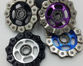 Bicycle Sprocket and Chain Fidget Spinner, Chain Fidget Spinner, Sprocket Spinner