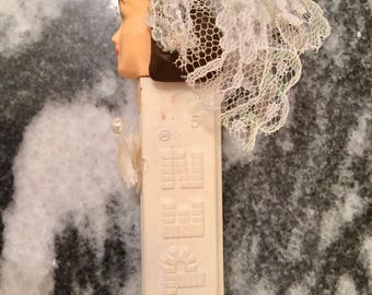 Custom vintage Pez dispenser, bride,  repainted Pez candy dispenser, wedding favor