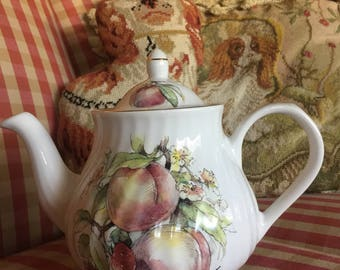 English Country Fruit Staffordshire Teapot