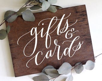 Gifts and Cards Sign, Rustic Wedding Signs, Gift Table Sign, Card Table Sign, Wedding Signage
