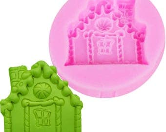 Gingerbread House Mold, Silicone Mold, Ginger Bread, Candy House, Hansel and Gretel, Fondant House Mold, Fairy House, House Mold, Chocolate