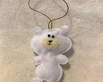 Felt Polar Bear Ornament